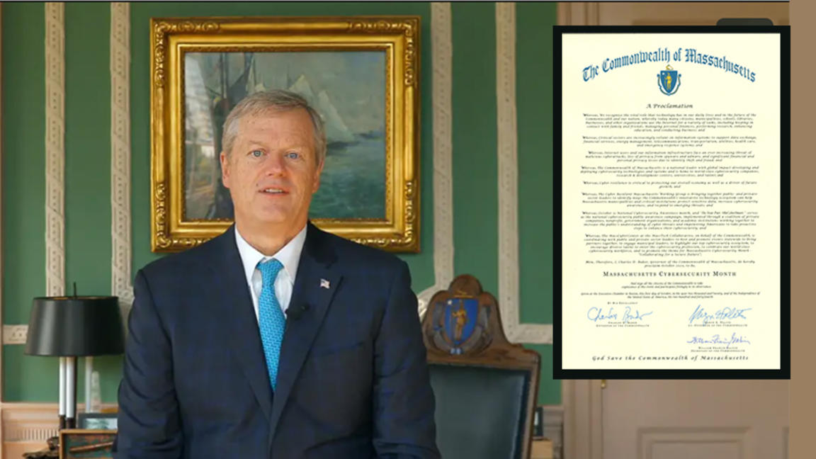 Governor Baker and Cybersecurity Month proclamation